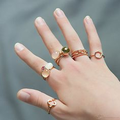 Rings. Love the infinity ring.