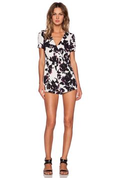 e816495fbdac OH MY LOVE Floral Playsuit in Checked Back Floral