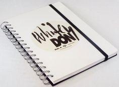 DIN A5 - Notizbuch Tagebuch aus Schallplatte White Vinyl - ein Designerstück von Aurum bei DaWanda