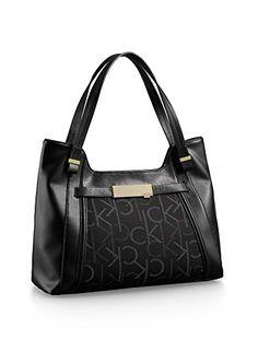 1c357f8b27d5 Calvin Klein Addie Scoop City Satchel Handbag Black Calvin Klein http   www.