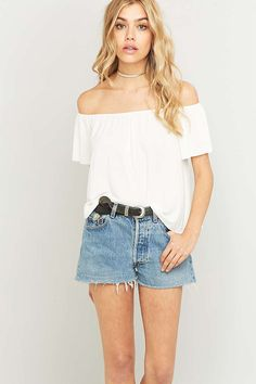 urban outfitters light before dark off-the-shoulder top