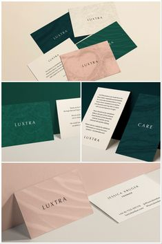 Luxtra fashion brand by Claire Hartley Hotel Branding, Restaurant Branding, Branding Agency, Brand Identity Design, Design Agency, Branding Design, Logo Design, Business Card Design, Business Cards