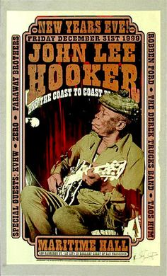 Firehouse John Lee Hooker Poster