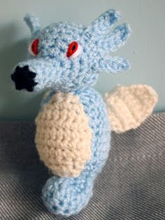 Mrs Flowerpot: Horsea (water Pokemon) - free crochet pattern.