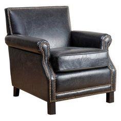 Abbyson Dixon Club Chair Antique Black - BR-CC1103-ANTBLK, Durable