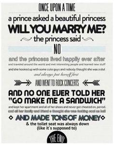 The princess who said no.
