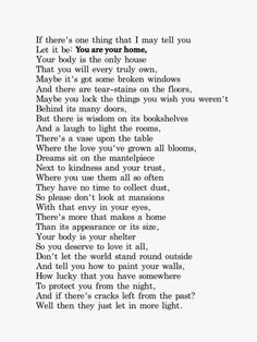 you are your home ~erin hanson