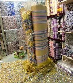 Libyan traditional Custome is made of a silk cloth with silver and gold thred .. It's called Houly ..