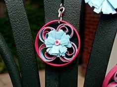 Paper Quilling Daisy Flower Earrings  by SweetheartsandCrafts