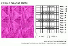 Pennant Pleating stitch knitting - Easy to follow