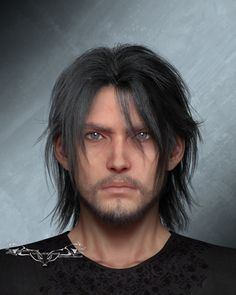 NightysWolf — At first I had thought about rendering all faces. Final Fantasy Xv, Final Fantasy Characters, Final Fantasy Artwork, Video Game Characters, Noctis And Luna, Noctis Lucis Caelum, Bishounen, Touken Ranbu, Hair Styles