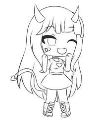 Coloring Sheet Gacha Life Easy Google Search Anime Wolf Girl