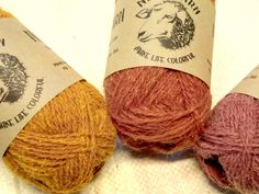 Pure Hand Dyed 100% WOOL YARN TRIO, Set of 3x50 g, Yellow-Pink. Great gift for mother and grandmother. Neva Yarn. Made in Russia. A4/10/21 from NevaYarn on Etsy Studio