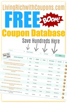 coupons coupon database huge resource of all available coupons
