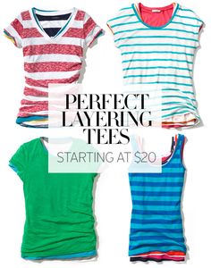 Perfect & affordable layering tees.