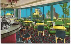 Retro Cocktail Lounge, Hotel Ojibway, Soo Locks Michigan