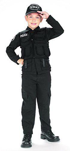 SWAT Team Black Cargo Pants Police Officer Cop Adult Costume Accessory