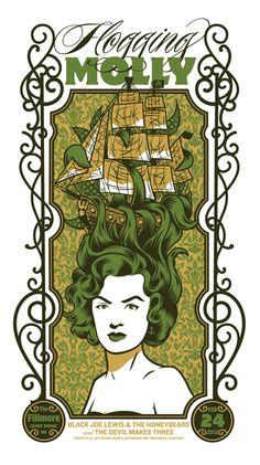 Flogging Molly poster by ElJefe Design