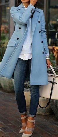 casaco de inverno - azul