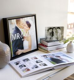 Personalize a photo book or home decor statement pieces of the wedding day.
