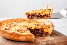 Cheeseburger Pie Hamburger Pie, Hamburger Dishes, Beef Dishes, Food Dishes, Main Dishes, Entree Recipes, Meat Recipes, Cooking Recipes, Pizza