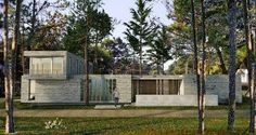PINAMAR BATIN HOUSE DESIGN SURROUNDED BY A PINE FOREST WITH MINIMAL MAINTENANCE COSTS - The Batin House by Estudio Galera Arquitectura is found in Pinamar, Buenos Aires Area, Argentina on a corner parcel encompassed by a pine timberland. The design of the home rotated around three conditions