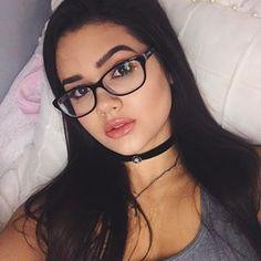bebe74806 Óculos de grau feminino quadrado armação preta estilo charme ...