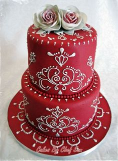 Found on WeddingMeYou.com - Lucky Red Asian Wedding Cakes