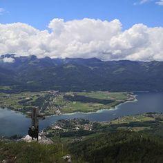 Blick über den Wolfgangsee Austria, River, Mountains, Instagram, Nature, Outdoor, Outdoors, Naturaleza, Outdoor Games