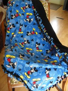 Mickey Mouse No Sew Blanket