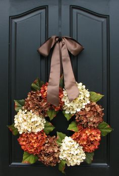 Fall, Autumn Leaves, Fall Wreaths, Autumn Decor, Front Door Wreaths, Holidays, Oktoberfest, Harvest. $80.00, via Etsy.
