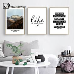 Mountains Landscape Canvas Poster Motivational Life Quote Print Wall Art - Ideas of Mountain Canvas Picture Room Decor, Picture Wall, Canvas Art Quotes, Wall Art Quotes, Wall Art Prints, Poster Prints, Art Posters, Room Posters, Living Room Canvas Prints