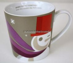 #STARBUCKS 2011 #Christmas 'When we're together' Snowman 18 oz. Large Mug #holiday www.BostonFH.com
