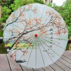 Tinaa Papierschirm chinesischer Sonnenschirm Tanz Prop Dekoration f/ür Party Hochzeit Orange