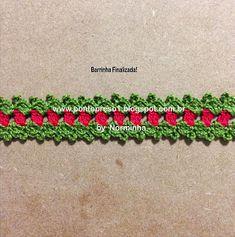 "Ponto Preso: CROCHE - Minha ""Greguinha"" Natalina ... Christmas Border, Crochet Christmas, Needlework, Projects To Try, Creative, Inspiration, Crafts, Holiday Crochet, Ideas"