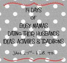 Excited to join this group of mama bloggers on ideas of how to date our husbands. My husband will like that!