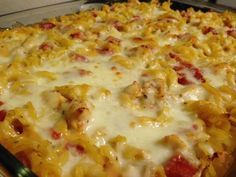 THM, Trim Healthy Mama friendly, Weight Watchers friendly meal.CHICKEN LASAGNA CASSEROLE. FOR LOW CARB USE EGG PLANT OR ZUCCHINI NOODLES.