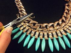 HOW TO: DIY Statement Necklace - Paperblog