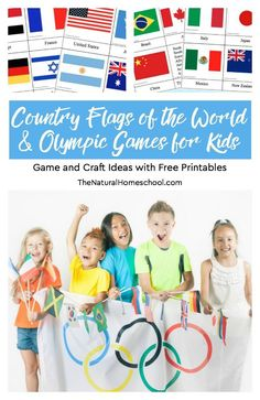 We have tied our Geography lessons in with the upcoming Winter Olympics! In this post, we will share a wonderful list of olympic games for kids including country flags of the world printables, crafts, activities and ideas. Montessori Activities, Hands On Activities, Learning Activities, Geography Activities, History Activities, Winter Activities, List Of Olympic Games, Flag Game, Homeschool Curriculum