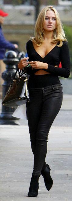 Kimberley Garner All In Black Outfit