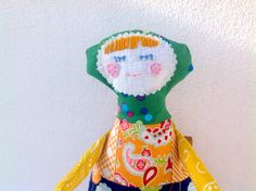 Cheerful Amália portuguese rag doll / cloth doll by APegaRabuda, €25.00