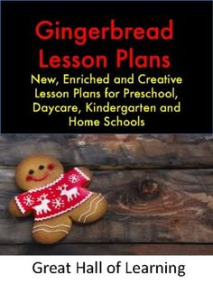 Over 50 pages of new, creative and enriched lesson plans for preschool, kindergarten, daycares and home schools.Circle time: Songs and poems and group activities about gingerbreadCrafts: 7 crafts for the children to makeMath ideas: Counting, estimating and additionNumber identification and valuesO...