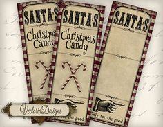 Shabby Christmas Candy Test Tube Labels Christmas labels instant download printable gift tags digital Collage Sheet VD0564