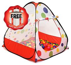 Kiddey Kids Play Tent  Indoor  Outdoor Children Play Tent Great Gift for Toddler  Easy Setup With Pop Up Technology Safe and Sturdy  BALLS NOT INCLUDED By Kiddey * You can find more details by visiting the image link.Note:It is affiliate link to Amazon.