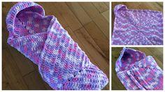 Crochet Wrap Up Hooded Baby Blanket Free Pattern