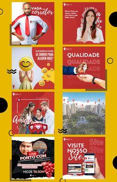 Social Media Poster, Social Media Banner, Social Media Template, Social Media Design, Social Media Marketing, Bauhaus Colors, Design Campaign, Web Design, Instagram Design