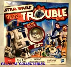 Classic Milton Bradley R2D2 TROUBLE Star Wars Game
