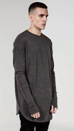 b06285e7497 Mens Hip Hop T Shirt full Long Sleeve T-Shirt With Thumb Hole Cuffs Tees