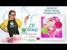 Soap Testing Jammin Rock Candy Fragrance Oil- Natures Garden #soapscent #rockcandyscents #sweetaromas