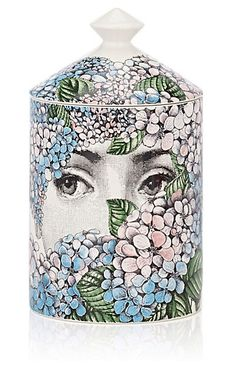 Fornasetti Ortensia Lidded Candle - Candles - 502976084